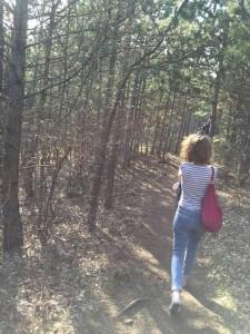 Astrid Yoga Wald Spaziergang